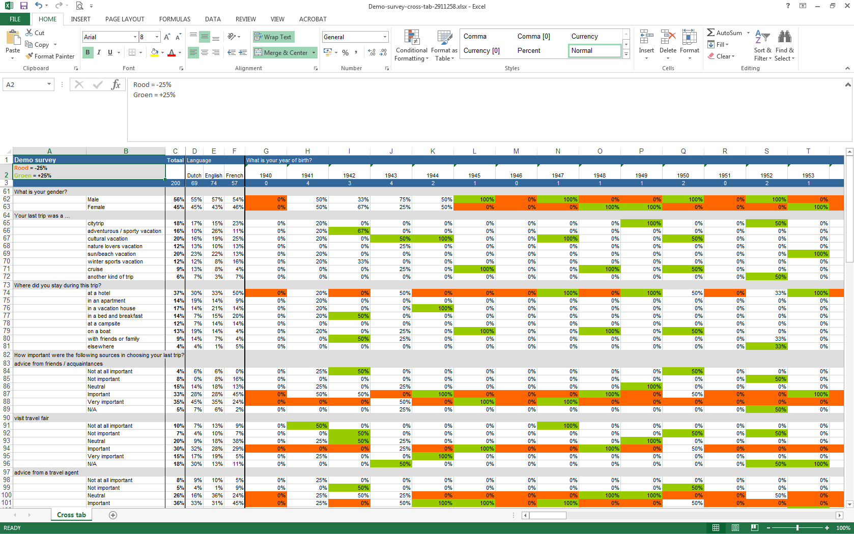 Analyze your survey results in Excel CheckMarket – Survey Result Template