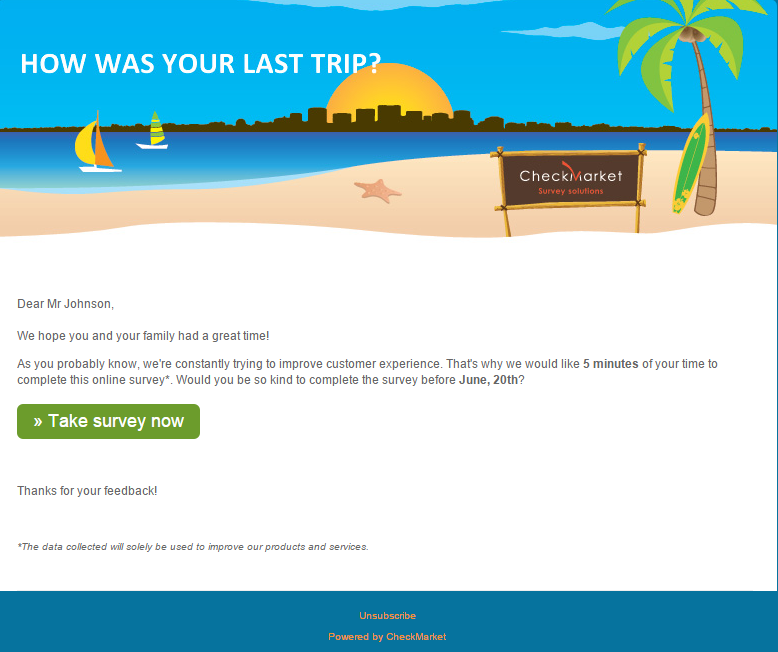 Sending out a better survey email invitation 5 best practices for Customer survey email template